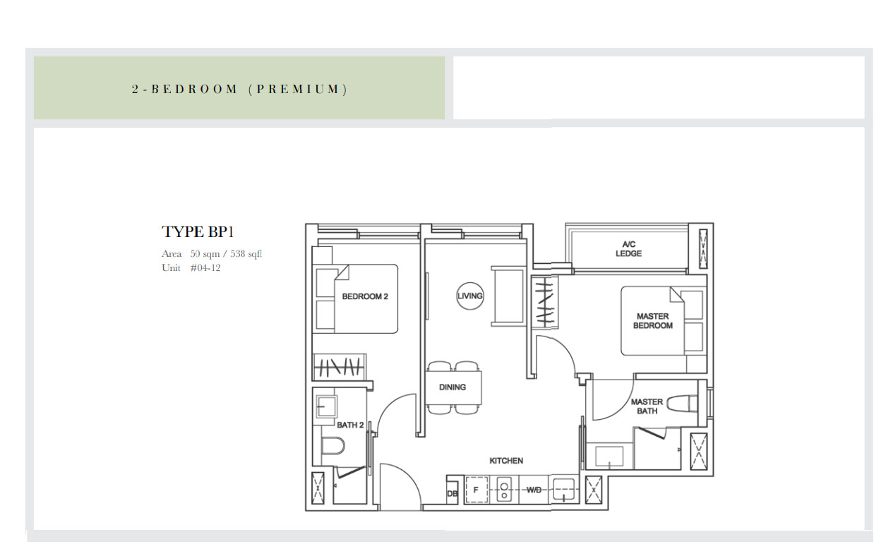 Sixteen35 Residences 2 bedroom premium