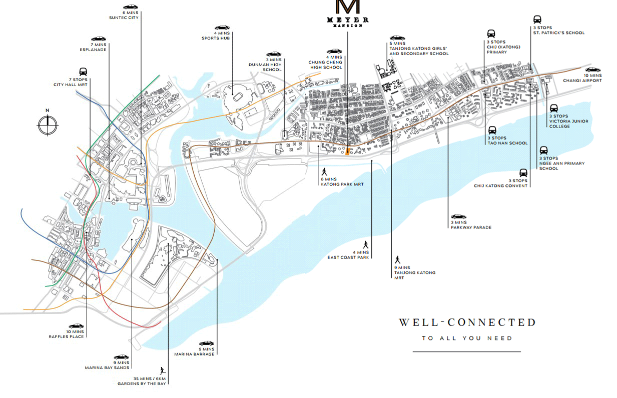 Meyer Masion Amenities Location Map