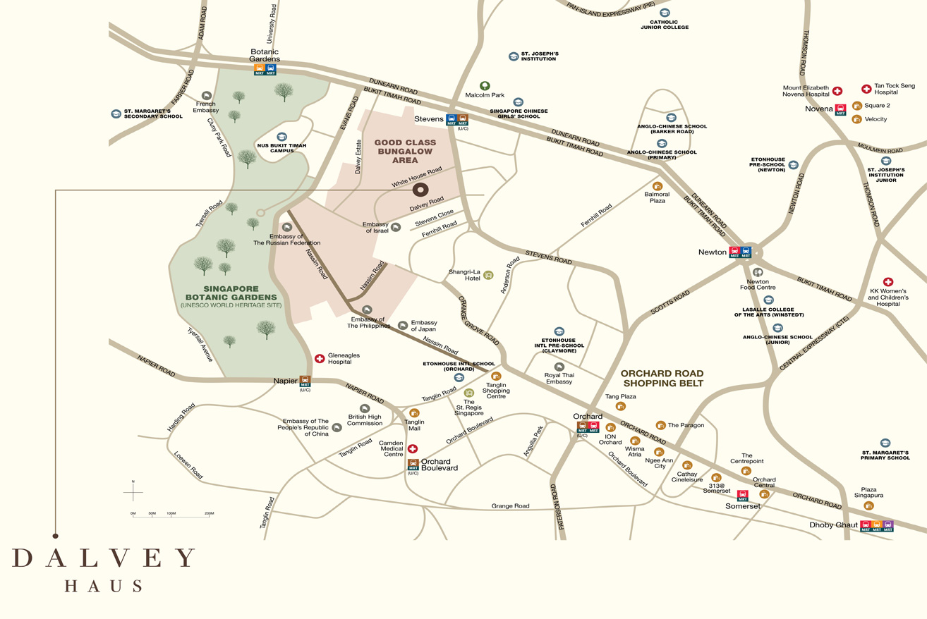Dalvey Haus location map