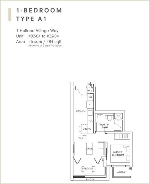 One Holland Village Residences Typical Unit Layouts